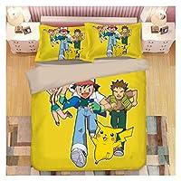 漫画かわいいペット寝具ハンコットンデジタル技術プリント1.2m / 1.5m / 1.8mペットエルフ (Color : Pokemon 3, Size : Au (140*210))