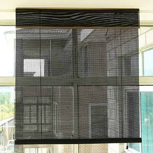 FXDCQC Cortinas enrollables Opacas al 50% para Patio de Puerta con Ventana, persianas enrollables de filtrado de luz, 85 cm / 105 cm / 125 cm / 145 cm de Ancho (tamaño: 85 × 100 cm)