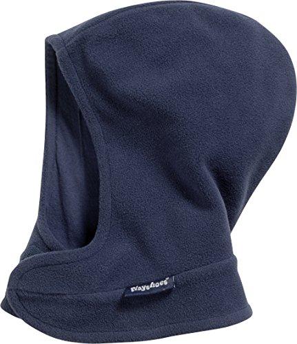 Playshoes Unisex Kinder Fleece-schalmütze mit Klettverschluß softe und atmungsaktive Schlupfm tze, Marine, 47 49cm EU