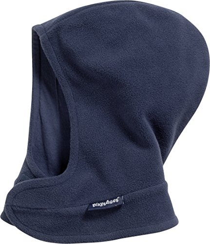 Playshoes Unisex Kinder Fleece-schalmütze mit Klettverschluß softe und atmungsaktive Schlupfm tze, Marine, 51-53 EU