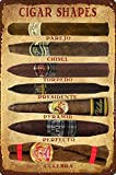 Cigars Metal Tin Sign 8x12 Inch Vintage Home Office Poster Bar Pub Cafe Decorative Plaque Home Cigar Decor Cigar sign Metal Poster