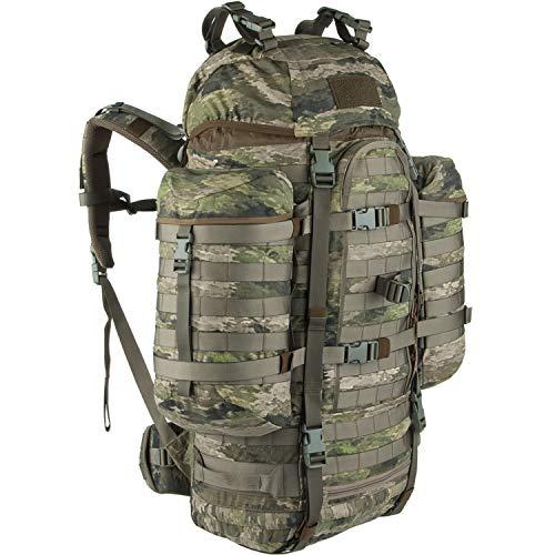 Wisport großer Wanderrucksack Damen & Herren + inkl. E-Book | Backpack Hüttentour | Pfadfinder | Survival Bushcraft Rucksack 65L für Mädchen Jungen | Zelt | Cordura | Camouflage | Wildcat A-TACS iX