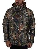 TruClothing.com Mens Camo Jacket Fleece Lined Tactical Fishing Hunting Waterproof Military - Hood M