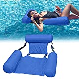Inflatable Swimming Floating Chair Pool Float Lounge ,Adults Water Chair Lounge, Portable Swimming Pools Hammock Lounge Chair Water Inflatable Floating Bed Sofa (Blue)