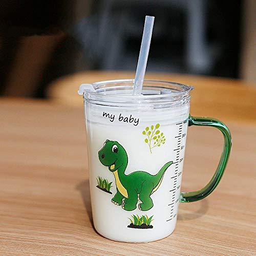 Cute Cartoon Children s Milk Glass Cups Hogar Beber Jugo Cup Transparent Water Bottle Desayuno Cup Straw Cup Kids Gifts-2_France