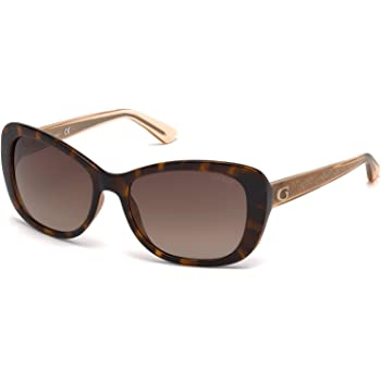 Guess GU7557 52F 54 Montures de lunettes Marron Mixte Adulte Avana Scura//Marrone Grad