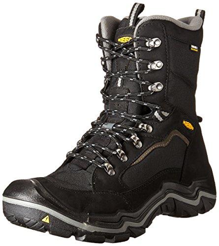 KEEN - Men's Durand Polar Waterproof, Insulated Winter Boots for Snow, Black/Gargoyle, 7 M US