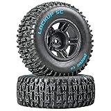 Duratrax Lockup SC Tire C2 Mounted Black Front: Slash(2), DTXC3670