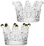 2 unids vidrio corona cenicero corona candelabros de cristal joyería de cristal lápiz labial...
