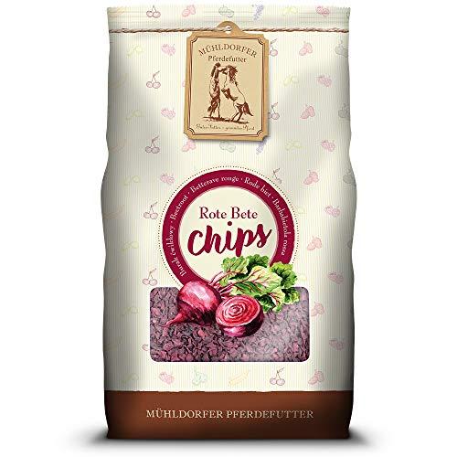 Mühldorfer Rote-Bete Chips, 3,5 kg, aus 100 % Rote-Bete, reines Naturprodukt ohne Zusatzstoffe, Futter für alle Pferde und Ponys