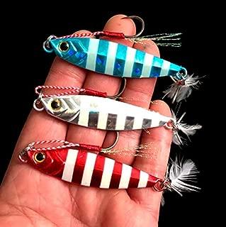 UNVINS 3pc 30g Jigs Fishing Lures Sinking Metal Spoons Micro Jigging Bait