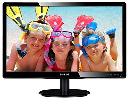 Philips 200V4QSBR/00 19,53 cm (19,5 Zoll) Monitor (VGA, DVI, MVA Panel, 1920 x 1080, ohne Lautsprecher) schwarz