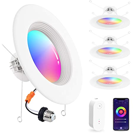 Globe Electric Wi-Fi Smart 4in 10W Dimmable LEDd Retrofit Recessed Light Trim