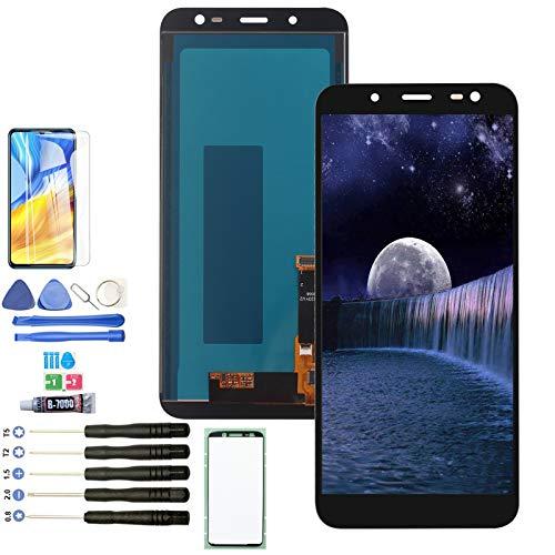 YWL-OU Reemplazo de Pantalla para Samsung Galaxy J6 J600 2018 LCD Display Digitalizador de Pantalla táctil +con un Conjunto de Herramientas (negro)
