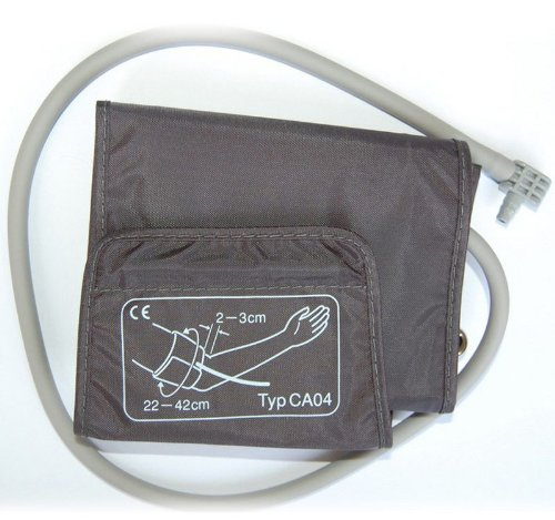 boso Zubehör - Universal Manschette für Blutdruck / Klettmanschette mit integriertem Schlauch / Zugbügelklettenmanschette 22-42 cm
