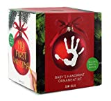SAM + Ollie First Christmas Ornament Kit, Baby Handprint Footprint Keepsake Dog Paw Print