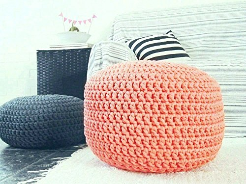 Coral Foot Stool Pouf Ottoman-Nursery Decor-Baby Shower Gifts