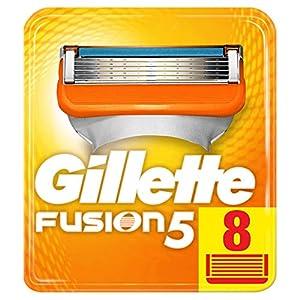 Gillette Fusion5 Cuchillas de Afeitar, Paquete de 8 Cuchillas de Recambio
