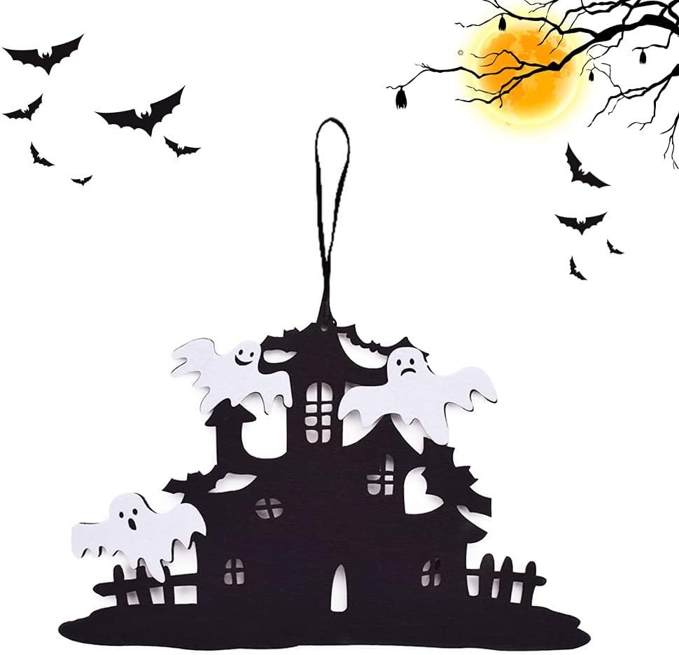 AYEUPZ Cartel de madera para colgar en la pared de Halloween, decoración del hogar, tablero de jubilación para exterior e interior, placa colgante para puerta, decoración
