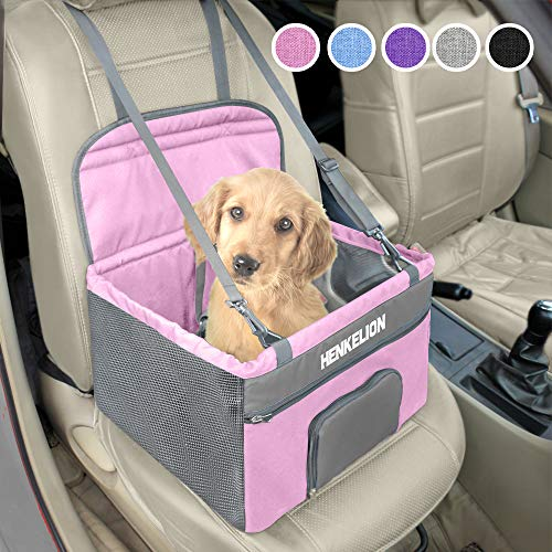 Henkelion Pet Dog Booster Seat, Deluxe Pet Booster Car Seat for Small Dogs Medium Dogs, Reinforce...