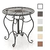 CLP Eisentisch Indra Design I Gartentisch mit geschwungenen Beinen I erhältlich Bronze