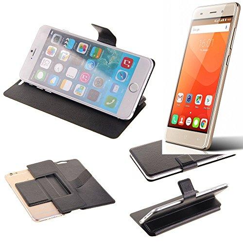 K-S-Trade® Schutz Hülle Für Haier Leisure L56 Schutzhülle Flip Cover Handy Wallet Case Slim Handyhülle Bookstyle Schwarz