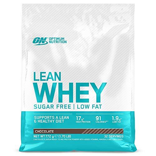 Optimum Nutrition Lean Whey, Proteínas en Polvo Sin Azúcar con Vitaminas y Minerales, Bajo en Grasas, Chocolate, 32 Porciones, 772 g, el Envase Puede Variar