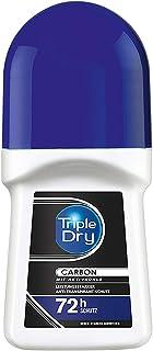 Triple Dry CARBON antyperspirant w kulce, 50 ml, dezodorant z węglem aktywnym, zapewnia bezpieczną ochronę przez 72 h, ant...