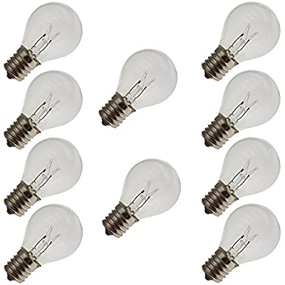 Industrial Performance 10S11N 130V, 10 Watt, S11, Intermediate Screw (E17) Base Light Bulb (10 Bulbs)
