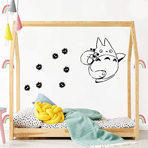 Adhesivos de Pared para Gatos Grandes para Habitaciones Cotizaciones en Color Adhesivos de Pared Adhesivo de Pared Moderno para niños Decoración de la habitación Adhesivo de Arte de pared-57x66cm