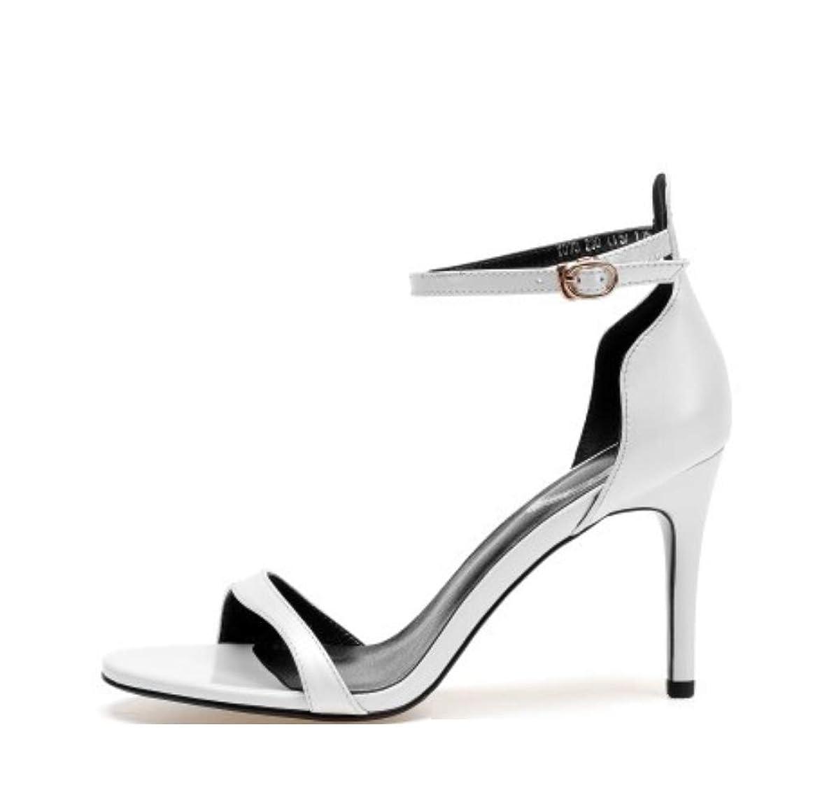 ピット暴動暖かさレディースハイヒール究極のハイファッションピープスシューズ手作りサンダルファッション魚口の女性のサンダルは、ローマの女性の靴のバックルの女性の靴で罰金