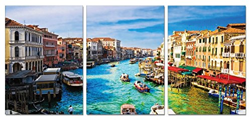 SLS Vision. Life in Venice. 41 x 20 inches. Ready to Hang. C...