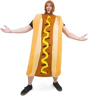 Footlong Hotdog & Wiener Bun Halloween Costume, Unisex Men & Women Sausage Suit, Brown, One Size