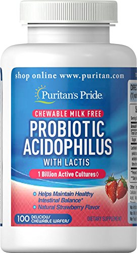 Puritan's Pride Probiotic Acidophilus Chewables Strawberry