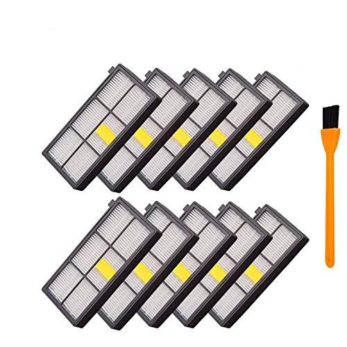 L-Yune, 10pcs reemplazo Polvo Hepa Filtros for Roomba 870 Piezas 880 980 Robot Aspirador de Filtro 800 de la Serie 900 Accesorios