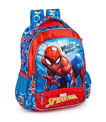 Marvel Spiderman Rucksack für Jungen 39x32x15 cm Kinder Schule Spider-Man