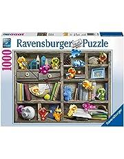 Ravensburger Pussel 19483 – Gelini i bokhyllan – 1 000 bitar pussel för vuxna och barn från 14 år