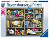 Ravensburger, Puzzle de 1000 Piezas, colección Gelini, Puzzle para Adultos, Gelinis, Relax, Tamaño del puzle 70 x 50 cm, Puzzle a Partir de 12 años, Gelini en la librería