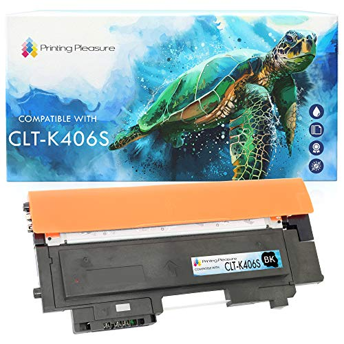 Printing Pleasure CLT-K406S Toner kompatibel für Samsung Xpress SL C410W C460FW C460W C467W CLP-360 CLP-365 CLP-365W CLX-3305 CLX-3305FN 3305W, Schwarz