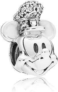 Disney Shimmering Steamboat Willie Portrait Charm 797499CZ