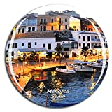Weekino España Menorca Imán de Nevera 3D de Cristal de la Ciudad de Viaje Recuerdo Colección de Regalo Fuerte Etiqueta Engomada refrigerador