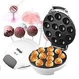 DSP Appareil à Cake Pops Corps argenté Machine à pâtisseries pour biscuits à usage ménager permettant de faire cuire 12 sucettes en même temps, facile à nettoyer, blanc, 1700w