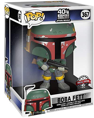 Star Wars 40th Anniversary - Boba Fett Vinyl Figur 367 (Life Size) Unisex ¡Funko Pop! Standard, Vinilo,