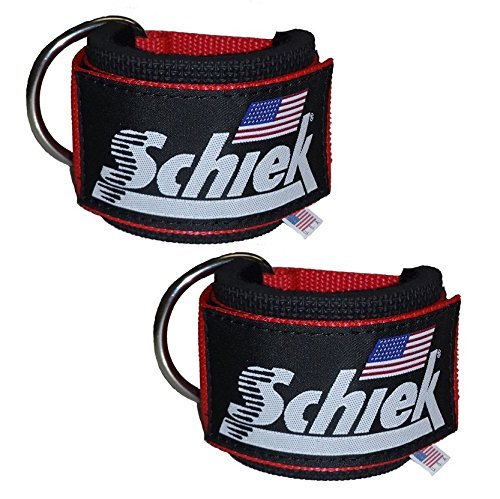 Schiek Sports–1700Neopreno Acolchado Nylon Tobillo Correas (par)–USA-Made Cable fijación Tobillo puños con...