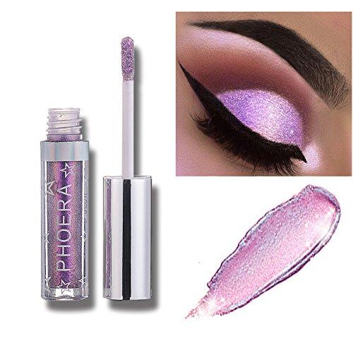 Allbesta Langlebig Glänzend Glitter Shimmer Flüssiger Lidschatten Stift Wasserfest Metallic Pigmente Make-up