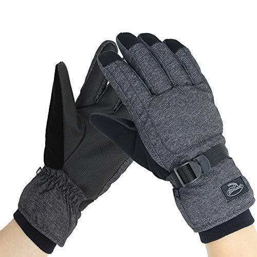 Men's Waterproof Ski Snowboard Gloves Warm Thinsulate Lined Cold Winter Skiing Snowboarding Glove (XL)