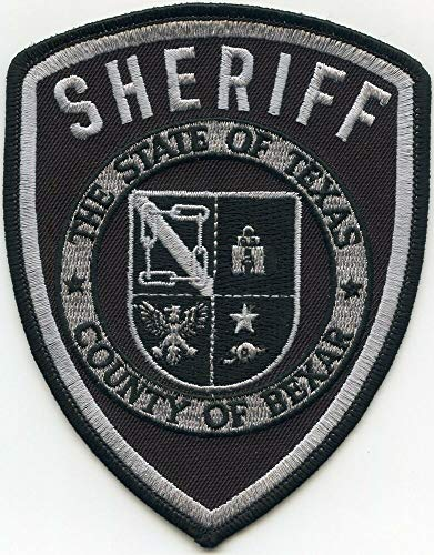 Shoulder Patches for Man & Woman Bexar County Texas TX Subdued Sheriff Police Patch