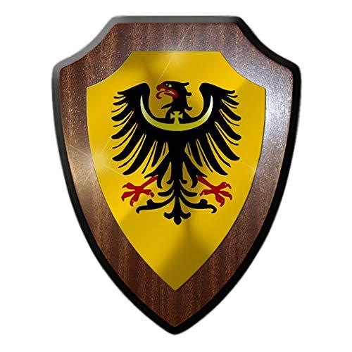 Schlesien Schlesisch Breslau Provinz Fahne Flagge Wappen Wandschild #27298