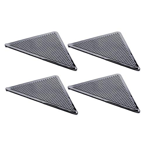ZJHZN 4 Stück Silikonkautschuk Teppichmatte Patch Teppich Teppich Greifer Anti-Rutsch-Griffpolster, 4 Stück