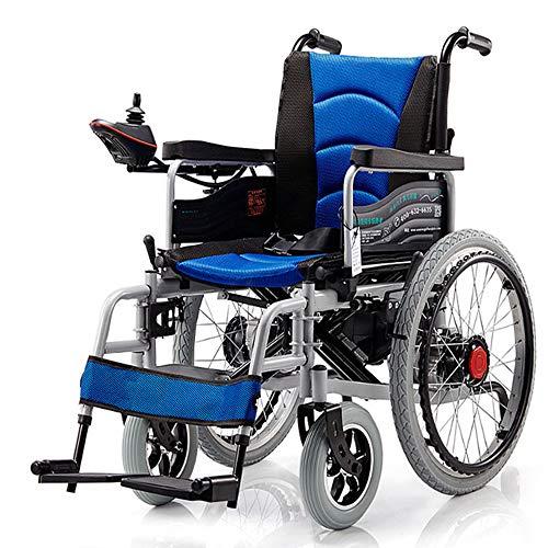 Chair 2PCS Sedia a rotelle elettrica Pieghevole con Doppio Motore con 4...